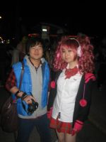 Junpei and Clover by ObliviousGod