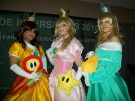 Daisy, Rosalina and Peach 2 by PrisCosplay