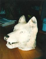 wolfshead by woodcarve