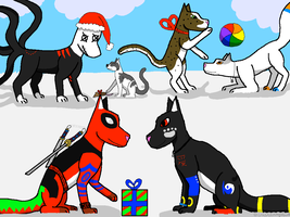Christmas with My Characters by crisisangelwolf