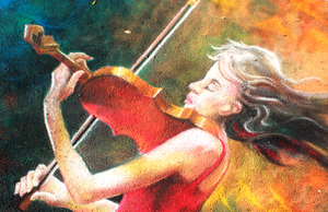 The Passion of Music Chalk Art Final by charfade