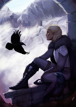 Zevran and Crows by Junie-Junette