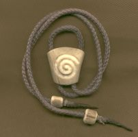 Spiral Antler Bolo Tie by DonSimpson