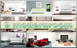 9 modern room pack by WTHOMG