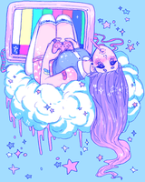 Cloud Girl by GhostlyStatic