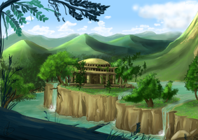 Gaia Temple [Speedpaint] by S-concept