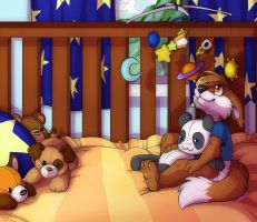 Chris in the Crib: By Kalida by BabyChrisFox