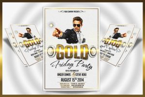 Gold Friday Party Flyer by feydesignGR