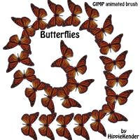 GIMP Animated Butterfly Brush by HippieKender
