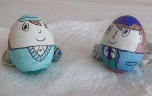 PL Luke and Clive Easter Eggs by kenabe