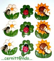 Polymer clay fimo decorations by cernittando