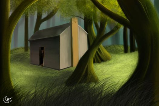 Cabin in the Woods by AbstractDawn