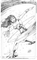Wonder Woman comission finished pencils by geraldohsborges