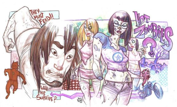 HOT ZOMBIES by AdversaryComix