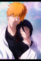 Ichigo Kurosaki and Rukia Kuchiki - Bleach |Color| by Airest27