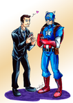 Cap and Coulson. by the-ChooK