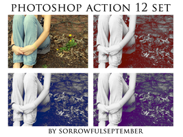 Photoshop Action 12 Set by SorrowfulSeptember