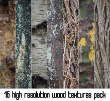 16 HIGH RESOLUTION WOOD TEXTURES PACK PART 2 by Wasabi-McFlex