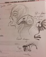 Doodling in my Spanish book by AnnissXD