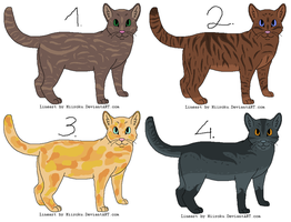 Free Cat Adoptables - CLOSED! by Fili2317