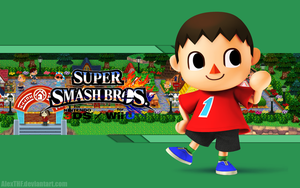 Villager Wallpaper - Super Smash Bros. Wii U/3DS by AlexTHF