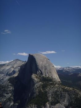 Half Dome from Glacier Point by WoodsieWood
