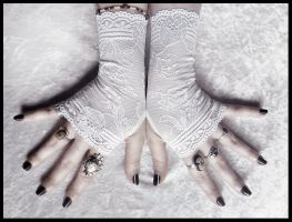 Fleur Lace Fingerless Gloves by ZenAndCoffee