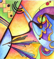 Kandinsky Inspired 1 by Artwyrd