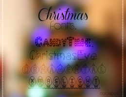 Christmas Fonts || A. by ColorsBox