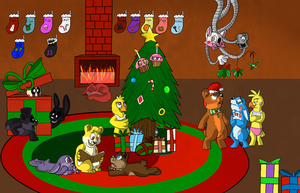 FNaF - A Fazbear Family Christmas by Koili