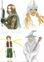 Old drawing of 2005 : LOTR by vigshane