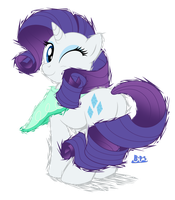 PonyKart - Rarity (flash drawn) by Blue-Paint-Sea