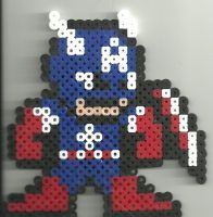 Captain America 2 by Ravenfox-Beadsprites