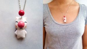 Moogle necklace by curry-brocoli