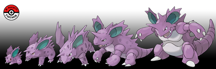 032 - 034 Nidoran(M) Line by InProgressPokemon