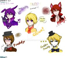 FNAF Doodle: Humanized 2 by Lolikuro