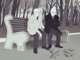 Mystrade: Grow old...together by MadMoro