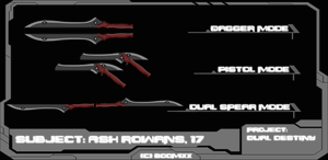 Dual Destiny- RWBY OC Weapon by BooMiXx