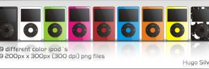ipod dock icons various color by hugosilva