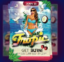 Tropic party poster by yuval10203