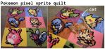 Pokemon Pixel quilt by scilk