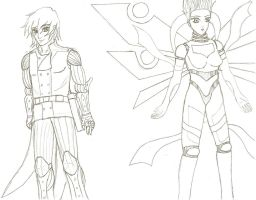 """OC's: 3 and 1 a.k.a. """"Machina"""" by Soldiers-of-Legacy"""