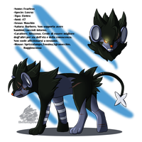 Contest entry_ Fearless the Luxray by thelunapower