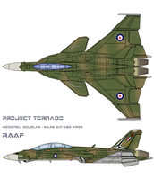 RAAF E/F-18D Top and Side view by Ruhisu