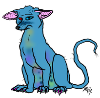 Neon hairless by Aquillic-Tiger