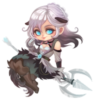 Leena - Chibi Commission by clover-teapot