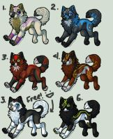 Wolf Adopts 3- NEW PRICES! by Fells-Adopts