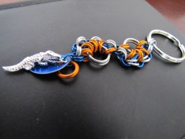 UF Keychain by CharmingChains