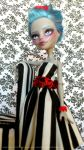 MH Gothic Ghoulia Repaint by ButterflyInDisguise
