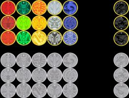 All Core and Cell Medals by W-Double